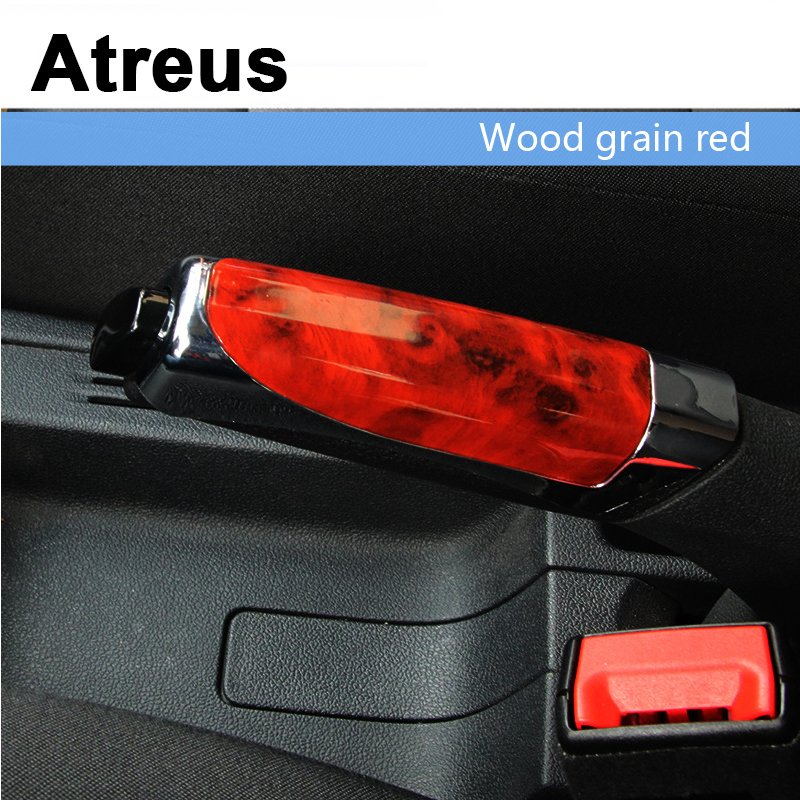 Atreus Car Styling Automobile Handbrake Grips Sticky Covers For <font><b>Lexus</b></font> Honda Civic Opel astra h j Mazda 3 6 Kia Rio Ceed Volvo image