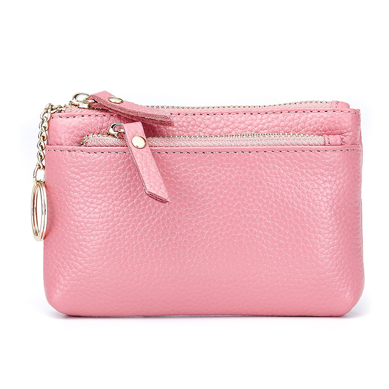 Genuine Leather Coin Purse Women Mini Wallet Change Purses Money Bags Children's Pocket Wallets Key Holder Small Zipper Pouch cute cats coin purse pu leather money bags pouch for women girls mini cheap coin pocket small card holder case wallets