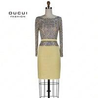 Одежда с длинным рукавом блесток коктейльное платье реальные фотографии пятно пояса прямые Полный Кристалл Высокие сапоги до колена ручно