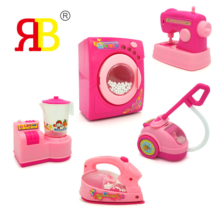 Play house electric small appliances set toys Simulation washing machine iron vacuum cleaner mini puzzle home appliances toys