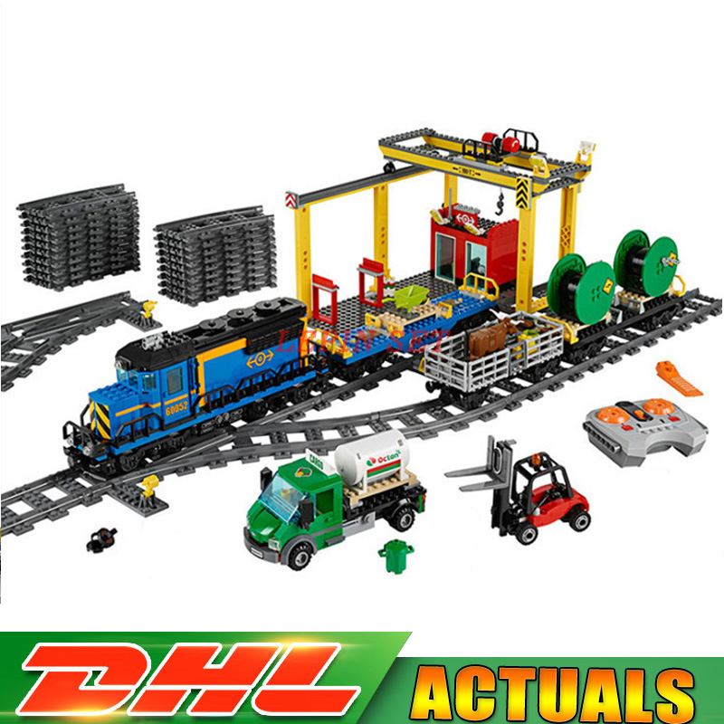 Lepin 02008 City Series the Cargo Train Set Building Blocks Bricks RC Train Children Compatible LegoINGlys 60052 Toys Gift lepin 02008 959pcs city series the cargo train set legoinglys 60052 model rc building blocks bricks toys for children gifts