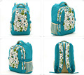 New Light Blue Flowers Print  Backpack Baby Changing Diaper Nappy Bag Waterproof Mummy Bag-LX132