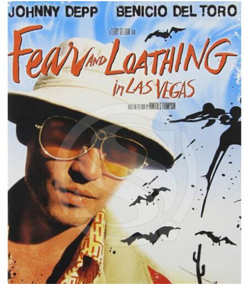 Canvas Poster Silk Fabric Fear Loathing Retro Vintage Print ...