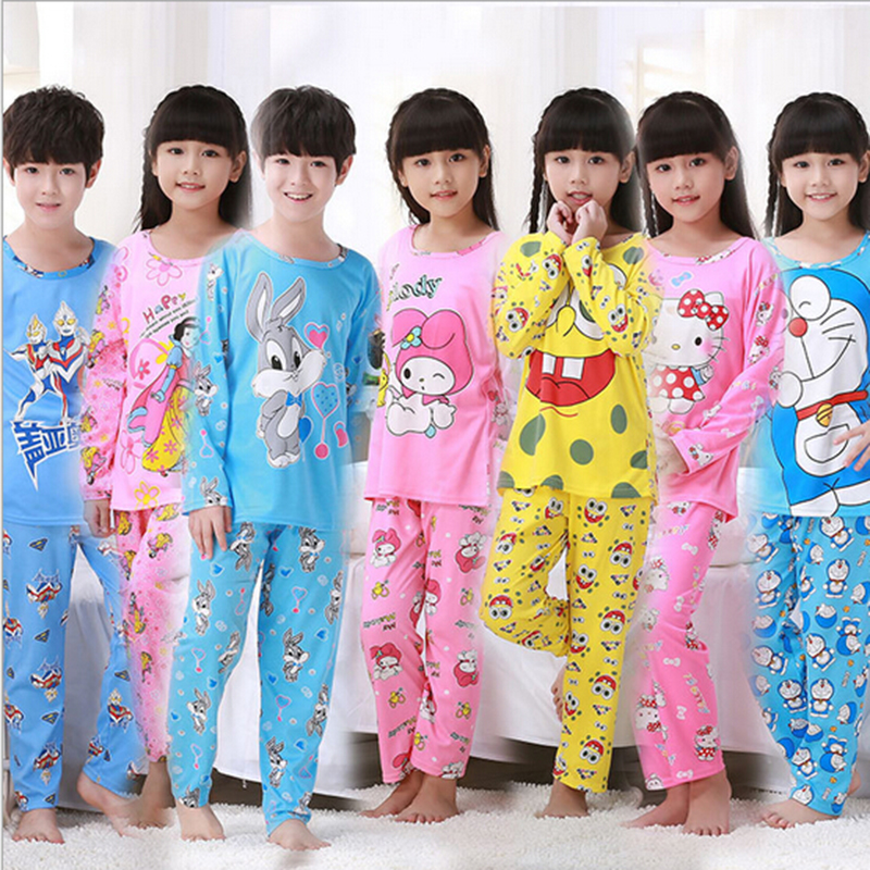 e382f17f2 Cute Cartoon Baby Boys Girls Kids Sleepwear children Pajama Sets ...