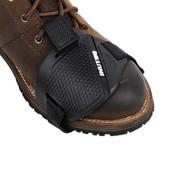 Buty motocyklowe ochronne przekładnia motocyklowa dźwigni zmiany biegów ochraniacz na buty motocykl osłona buta ochronna zmiany biegów buty kaptur poduszki tanie i dobre opinie Buty Ochrony Unisex Shoes Protective Rubber Black Moto shoes Motorcyle boots Free Size Non-slip protection