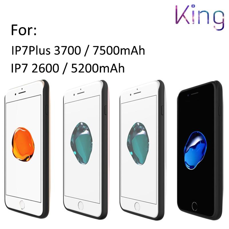 imágenes para U1. caso de TPU 7300-2600 mAh Cargador Ultra Delgado forI7 7 Más El Banco de Potencia paquete de Cargador de Batería de Reserva para El Iphone 6 S 7 Plus