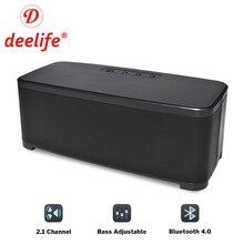 Deelife casa alto falante bluetooth com ajuste de graves poderoso altifalante sem fio 2.1 canais estéreo música surround caixa de som