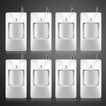 8 unids/lote Wireless Sensor PIR / Detector de movimiento para inalámbrica GSM / PSTN Auto Dial sistema de alarma de seguridad sin batería