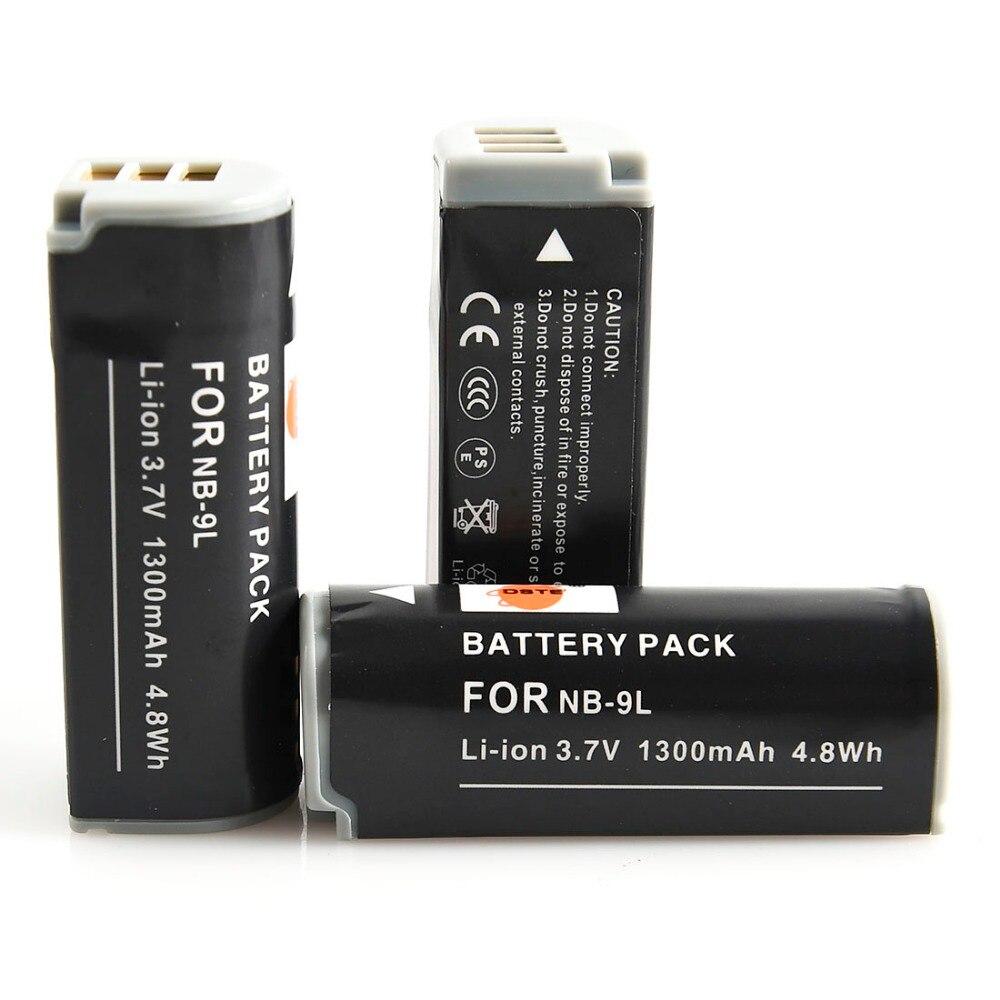 d5fe6a81b43ce DSTE 3 pcs NB-9L NB9L بطارية قابلة للشحن لكانون IXUS 1000HS IXY 50 S  POWERSHOT N2 SD4500 هو كاميرا