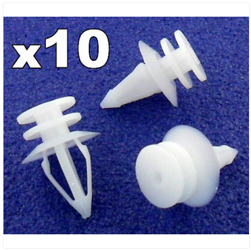 10X ALFA ROMEO TRIM PANEL PLASTIC PUSH FIT CLIPS 5-6MM HOLE SIZE