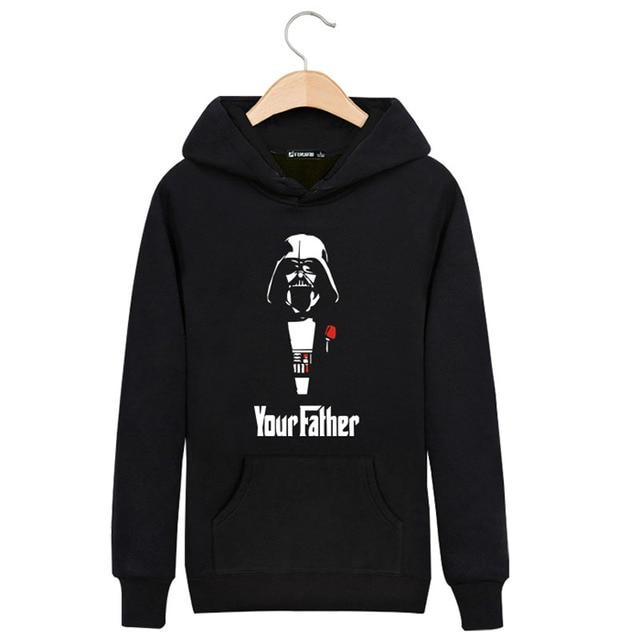 Your Father in Star Wars Sweatshirts Men Brand Hoodies Men 2016 Spring Male Sweatshirt Teenage for Young Men