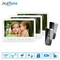 JeaTone 7 Inch TFT Color Monitor 1200TVL Camera Video Door Phone Intercom Remote Unlocking Waterproof IR