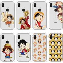 Japanese Anime Collage One Piece Luffy Series Silicone Transparent Clear Cover Case For iPhone  8 8Plus 7 7Plus 6S 5S SE
