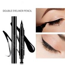 цены на 4 Eyeliner New Double Head Seal Eyeliner Liquid Makeup Black Lasting Eyeliner Marker  в интернет-магазинах