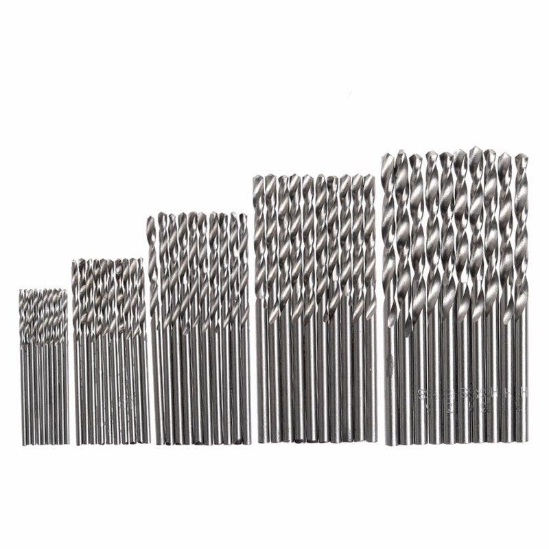 10Pcs/Lot HSS High Speed White Steel Twist Drill Bit Set For Dremel Rotary Tool New