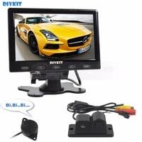 7 Inch Touch Button Ultra Thin Car Monitor LED Rear View Car Camera Wireless Parking Radar