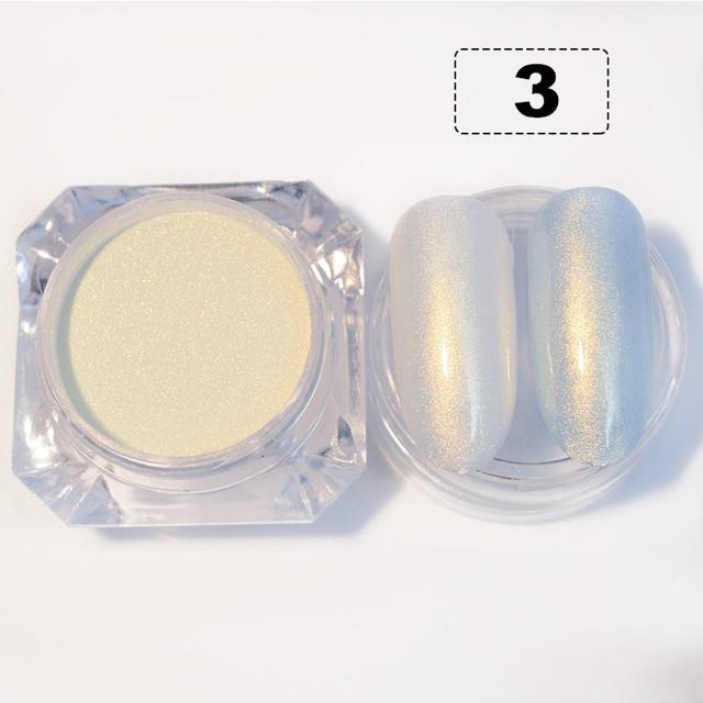 Pearl Powder Nail Glitters Dust 3 Colours