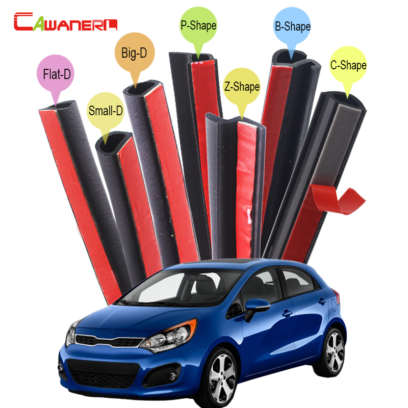 Cawanerl Car Rubber Sealing Seal Strip Kit Seal Edge Trim Sound Insulation Weatherstrip For Kia K5 Rio Cerato Optima Ceed K9 cawanerl car rubber seal strip kit sound control dustproof seal edge trim weatherstrip self adhesive for volvo xc60 xc70 xc90
