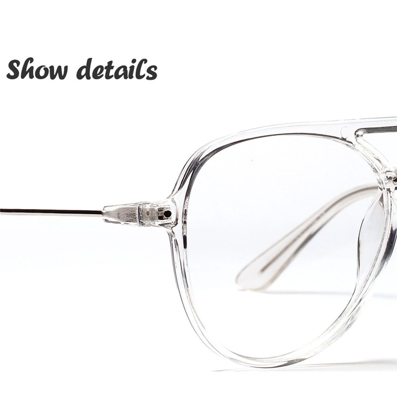 7d091963124 Clear Lens Eye Glasses Frames For Men Women Retro Vintage Oval Eyeglasses  Titanium Fake Glasses Transparent Myopia Eyewear-in Eyewear Frames from  Apparel ...