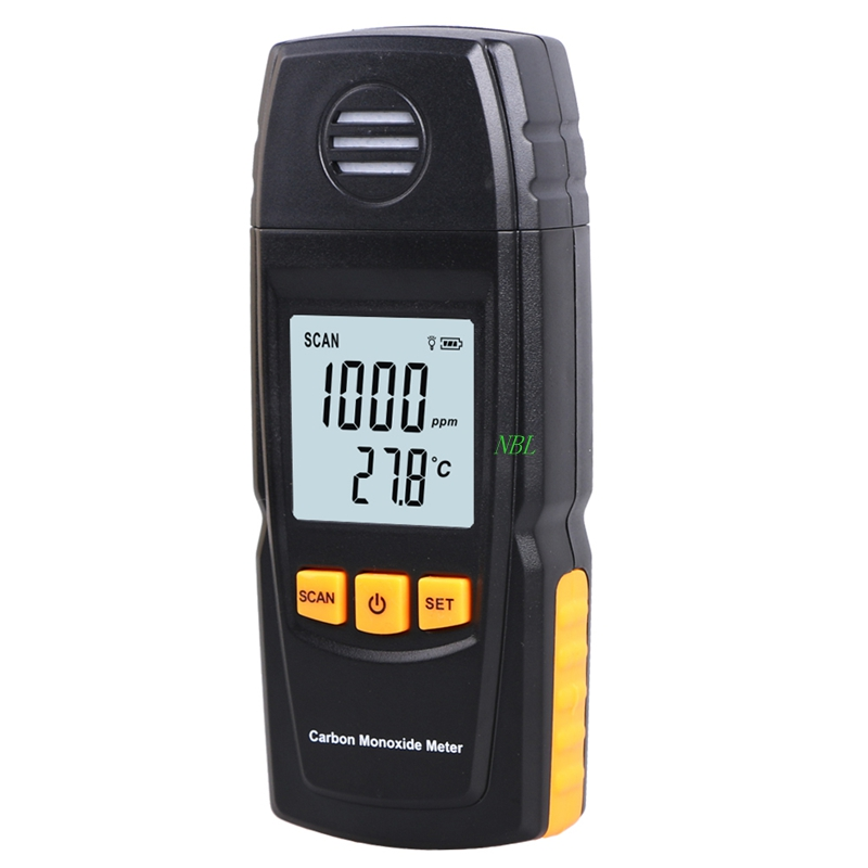 Handheld Carbon Monoxide Meter CO Detector Analyzer 0-1000ppm LCD Digital Carbon Monoxide Gas Leak Tester Resolution: 1ppm Box