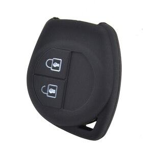 Image 3 - Silikon uzaktan anahtar kutu için Opel / Vauxhall Agila Fiat Sedici için 2004   2014 Fob Shell kapak cilt tutucu 2 düğme