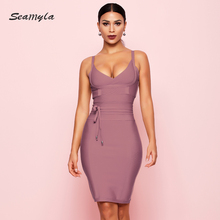 Night Out Bandage Club Sexy Dress Sleeveless Runway Vestidos Bodycon Celebrity Party Dresses Summer