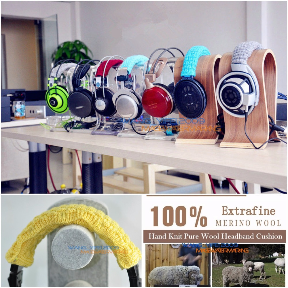 100% Pure Wool Headband Cushion For Sennheiser PC 373D PC360 PC350 PC363D G4ME ONE PC Gaming Over Ear Headset Headphone Head Pad image
