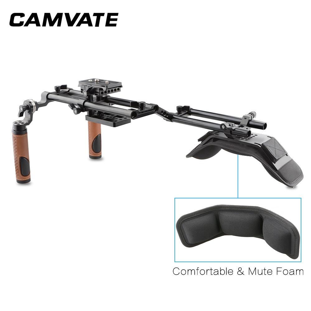 Image 4 - CAMVATE Dslr ショルダーマウントリグデュアルハンドグリップサポートキット C1769フォトスタジオ用アクセサリー   -