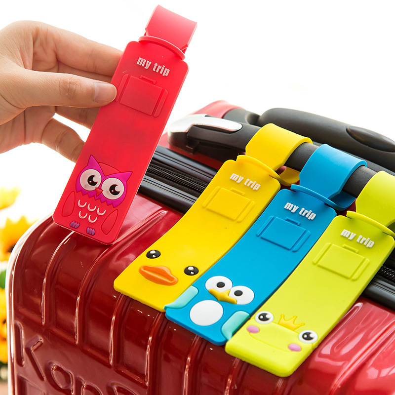Cute Travel Luggage Label Straps Luggage Tag 2016 For Cartoon Silicone Suitcase Korean Style Name ID Address Tags Luggage Tag