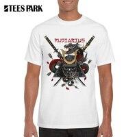 Men T Shirts Japanese Samurai 3D Warrior Sword Printed 100% Cotton Anime Armor Short Streetwear Tee Shirt Soldier T shirt