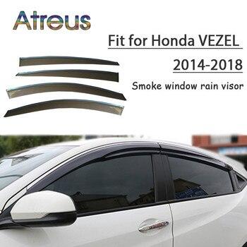 Atreus 1set ABS For 2018 2017 2016 2015 2014 Honda Vezel Accessories Car Vent Sun Deflectors Guard Smoke Window Rain Visor