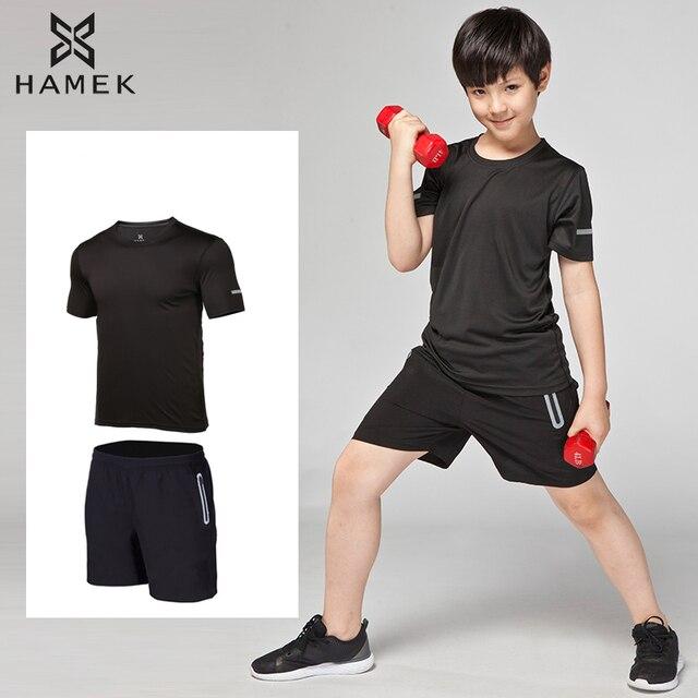 2017 seco rápido deportes trajes niños Running t-shirt Fitness compresión  gimnasio Jogging entrenamiento Running d807949a0f6a