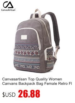 7d274c75fbe9 Canvasartisan top quality women canvas backpack bookbag female dual ...