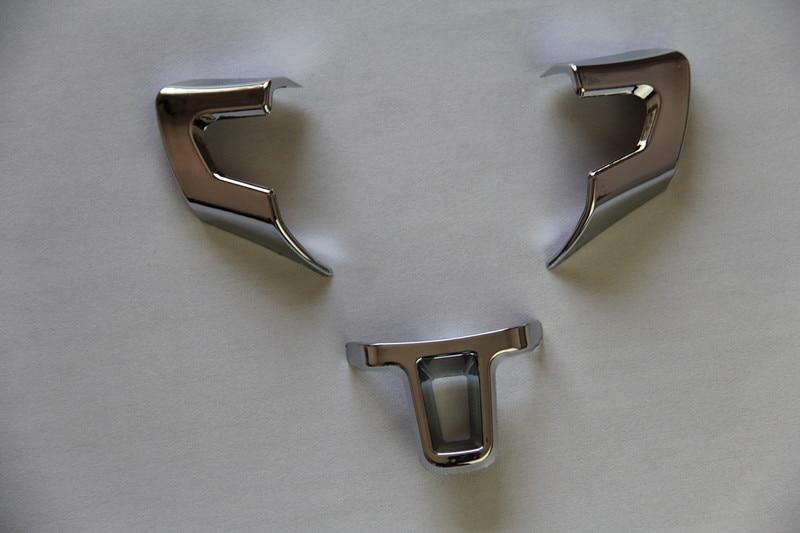 Car le style Volant couverture autocollant ABS Chrome garniture accessoires cas pour Volkswagen VW GOLF 6 MK6 POLO JETTA MK5 NK6 Bora