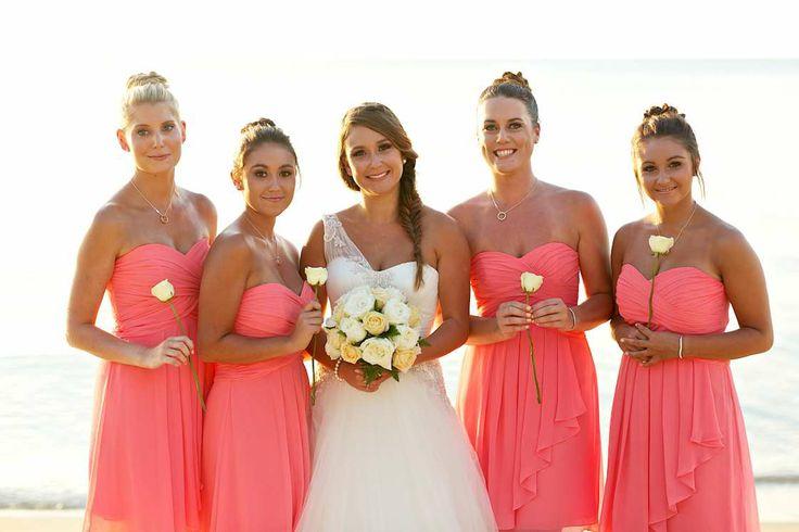 2016 Empire Strapless Elegant Chiffon Short Beach Bridesmaid