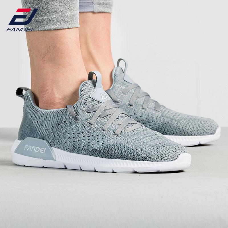 FANDEI new design running shoes for men breathable mesh socks sneakers men sport shoes men light walking shoes men lace up slimming zip pocket design striped lace up men s sport jogger pants