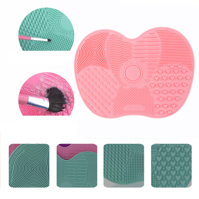 Cosmetic Brush Cleaning Silicone Mat