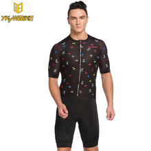 YKYWBIKE Men Cycling Jersey Sets 2017 Cycling Bib Short Sets Hombre Maillo TOP Short Sleeve Bicycle Sets Quick Dry Ropa Ciclismo