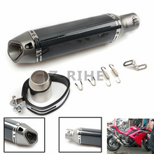 for Motorcycle sports car modified MT07 09 for 10RZX6R10R Z800 Italian devil MIVV exhaust pipe 36-51mm universal ninjia er6n M10