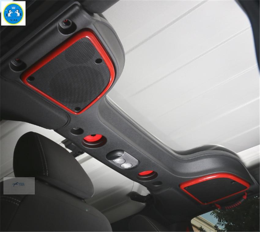 2015 Jeep Wrangler Inside >> Interior ! 2 Pcs For Jeep Wrangler Hardtop model 2015 2016 2017 ABS Roof Speaker Cover Trim-in ...