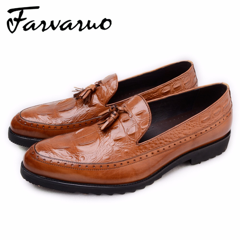 Summer Mens Shoes Dress Casual Genuine Leather Black Formal Oxford Crocodile Wedding Shoes Men Tassel Loafers Moccasins Slip Ons branded men s penny loafes casual men s full grain leather emboss crocodile boat shoes slip on breathable moccasin driving shoes