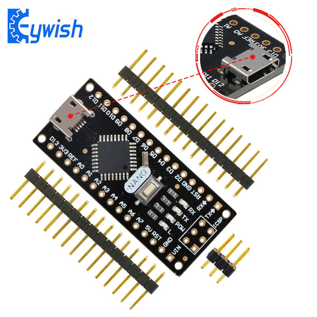Keywish For Arduino Nano V3.0,Micro USB,ATmega328P 5V 16M CH340 Nano Board,High Quality PCB Original Material,Immersion Gold