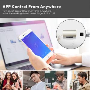 Image 2 - Smart Wifi Water Heater Boiler Switch EU UK 20A Black Glass Touch Switch Ewelink APP Voice Control with Alexa Google Home