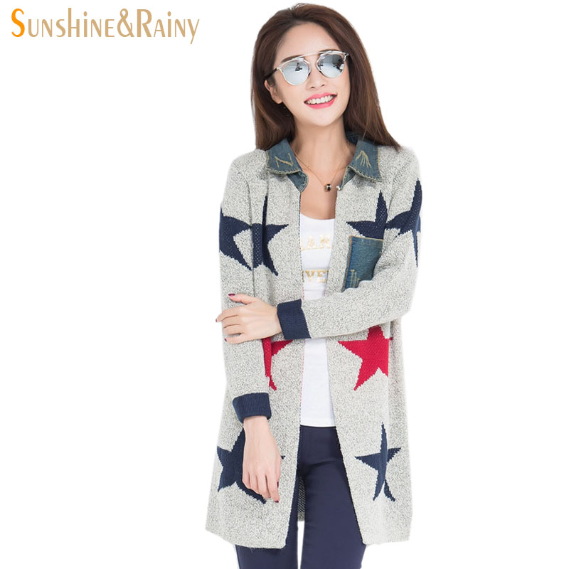 New arrival gray lovely cartoon mouse print fashion thick round collar long font b cardigan b