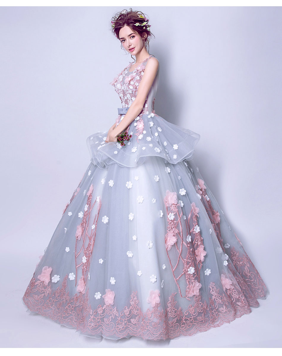 e7253aa61 Vestido De 15 anos Quinceanera Dresses Debutante dress 2019 Ball Gown  Multicolor Wedding Ball Gown Sweet Lace Flower Party Gowns