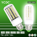 YCDC Brand 7W-25W 30-136Leds Quality Led Lamp LED Corn SMD5733 E27/E14/B22/G9/GU10 Milky/ Transparent 110V 220V Led Light Bulb