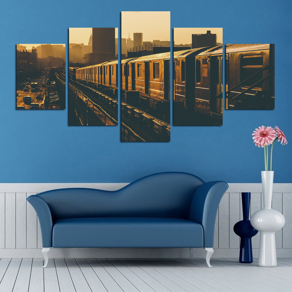Fashion Landscape of railway Canvas Painting Home Decor canvas Picture Print On Wall For Living Room Restaurant FA75
