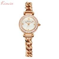 KIMIO Women Watches Dress Ladies Quartz Watch Luxury Brand Female Bracelet Watches Steel Wristwatch 2017 Hot