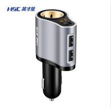 HSC двойной зарядное устройство USB 3.1A автомобильный прикуриватель Универсальный USB Автомобильное зарядное устройство с автомобильным дисплеем напряжения для Samsung Xiaomi huawei