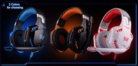 LNBEI G2000 Computer Stereo Gaming Headphones High Quality Deep Bass Gaming Headset Earphone With MIC LED